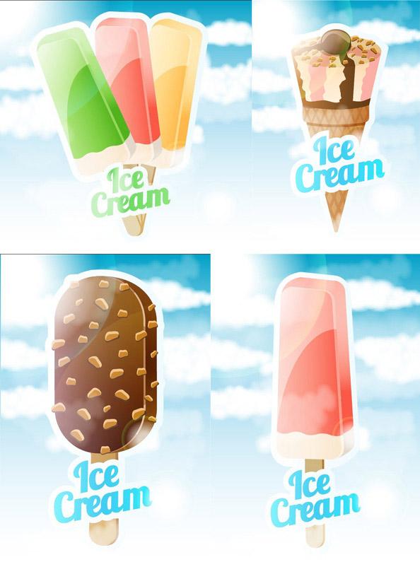 Sweet ice cream vector