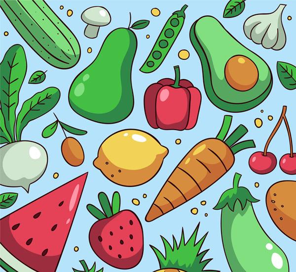 水果蔬菜�o�p背景