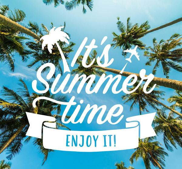 椰树夏季海报