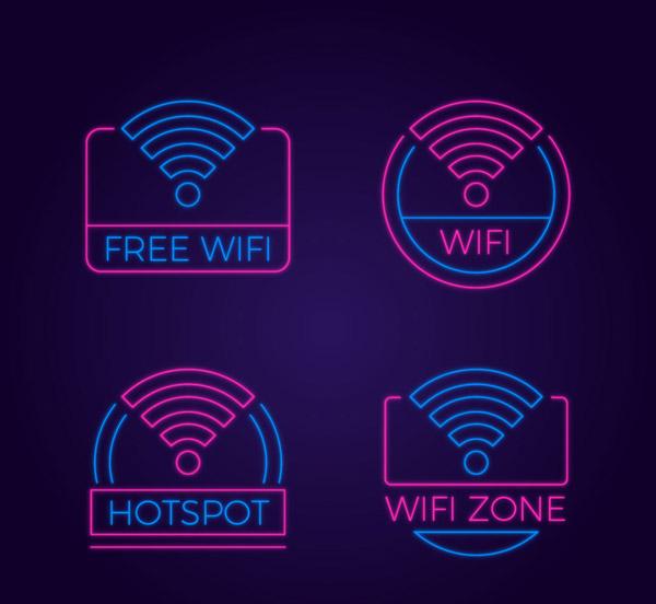 彩色无线网标志