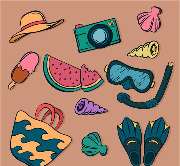 夏季度假物品
