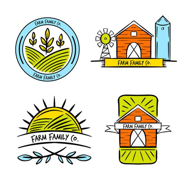 彩色农场标志