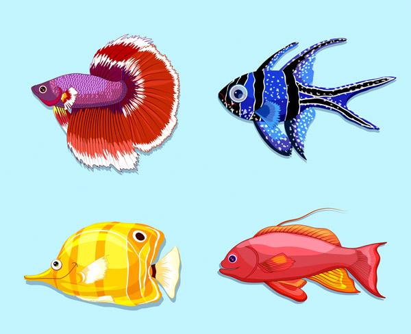 美丽热带鱼矢量