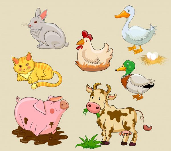 创意农场动物矢量