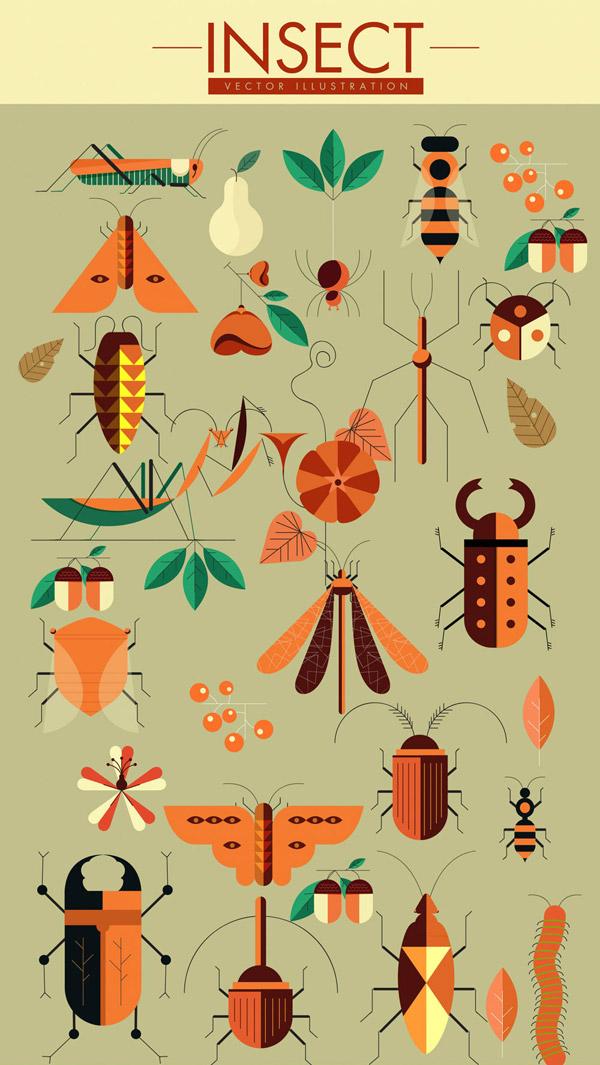 昆虫设计矢量