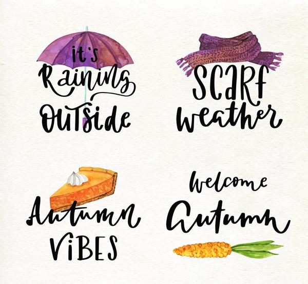 创意秋季艺术字