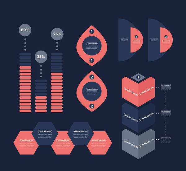 扁平化信息图元素