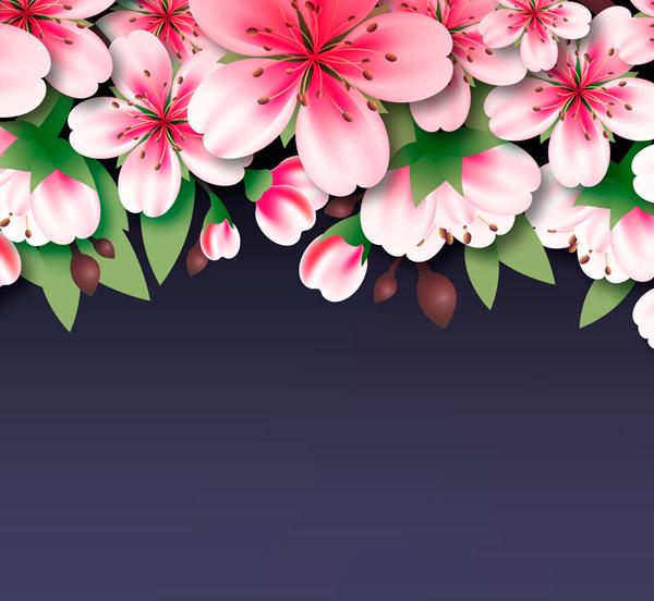 美丽粉色桃花