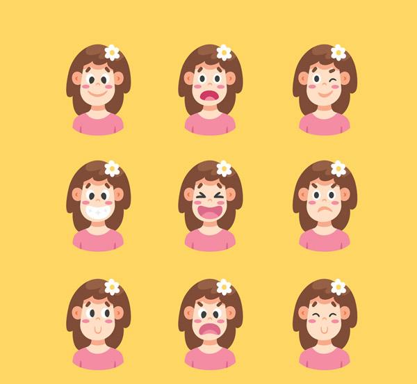 创意表情女子头像