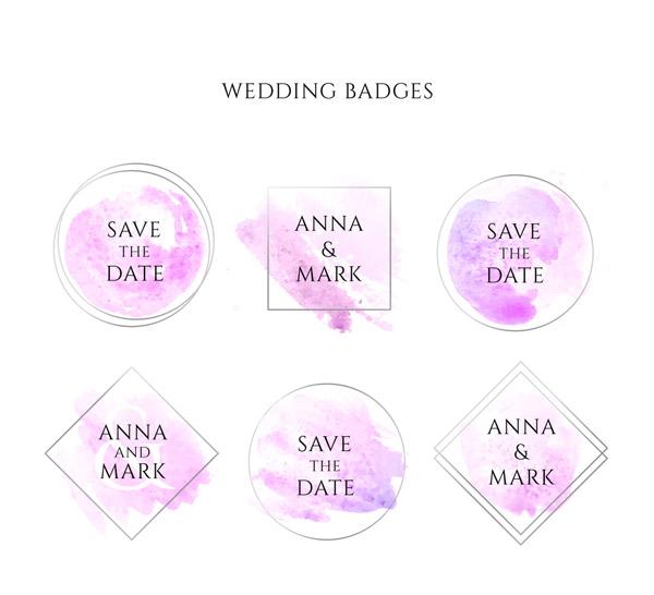 创意婚礼徽章