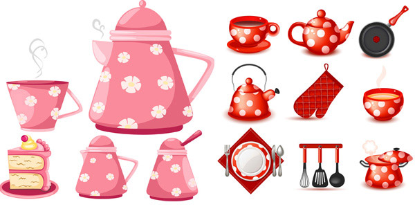 Lovely kitchen utensils tea set