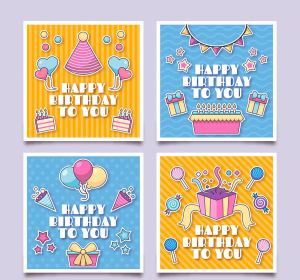 正方形生日卡片