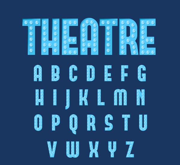 个蓝色字母艺术字