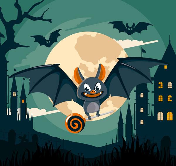 晚飞行的蝙蝠