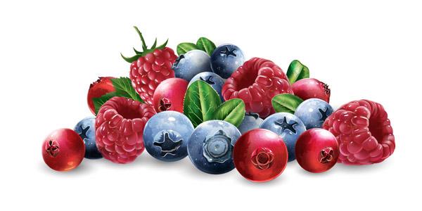 新鲜水果果粒