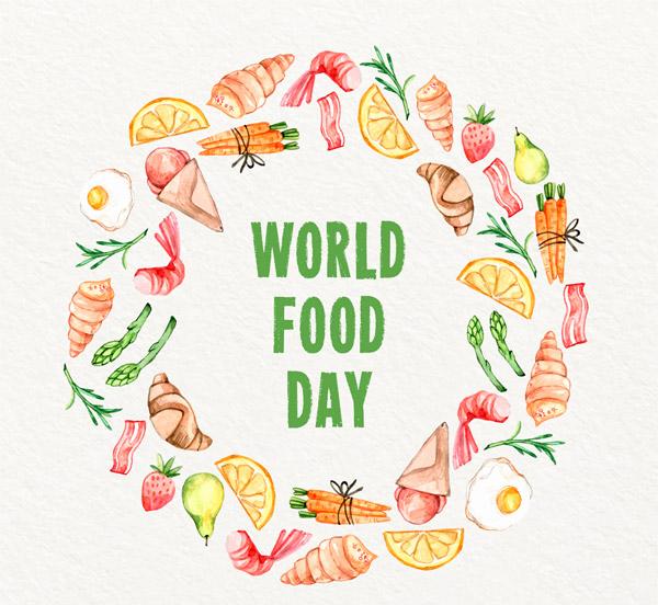 世界粮食日食物圆环