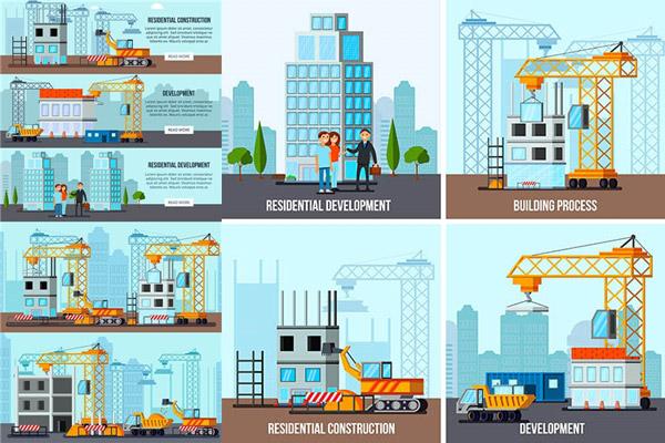 建筑施工主题矢量
