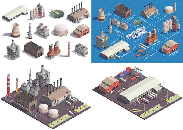 厂房与设备等距模型