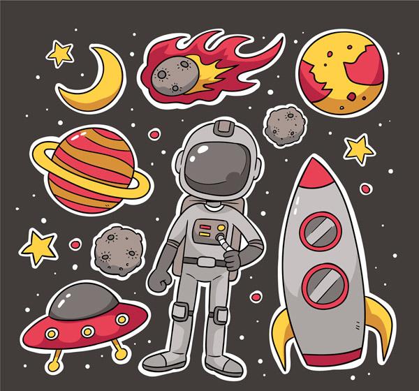 太空元素贴纸