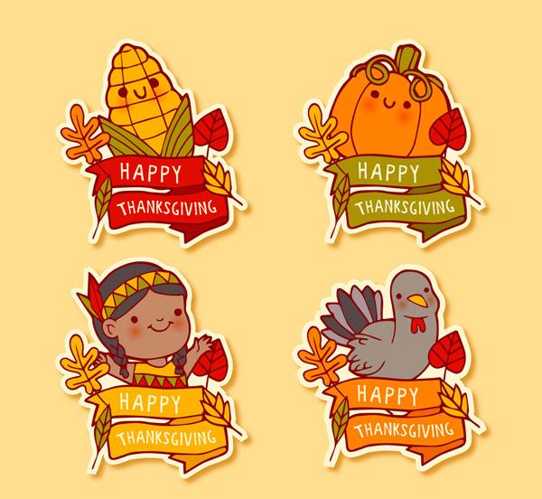 感恩节快乐标签