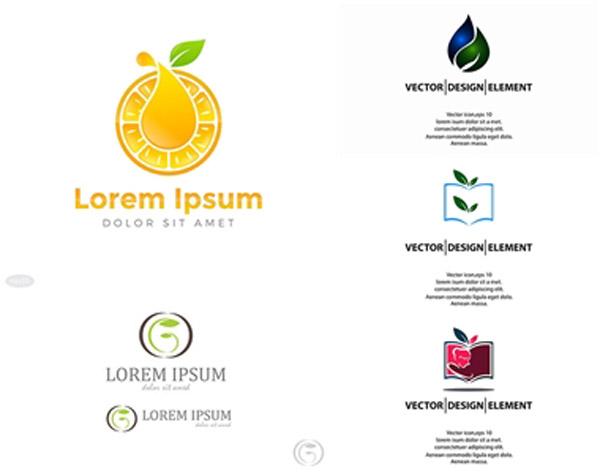叶子元素标志