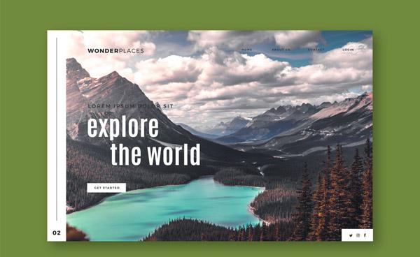 旅行网站登陆页