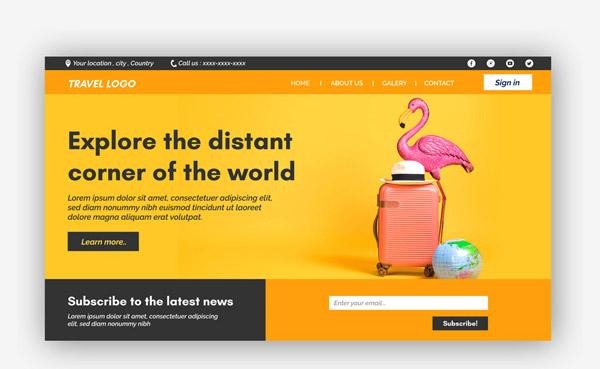 旅行网站登录界面