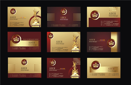 Crown decoration business cards