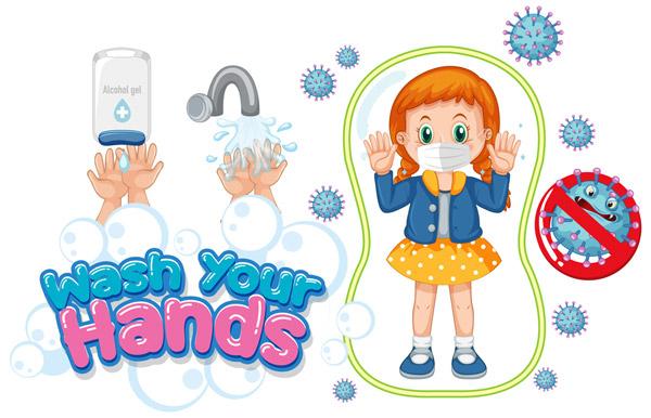 儿童预防新型冠状病毒图片