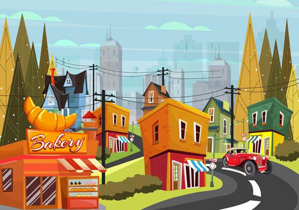 小城街边风景