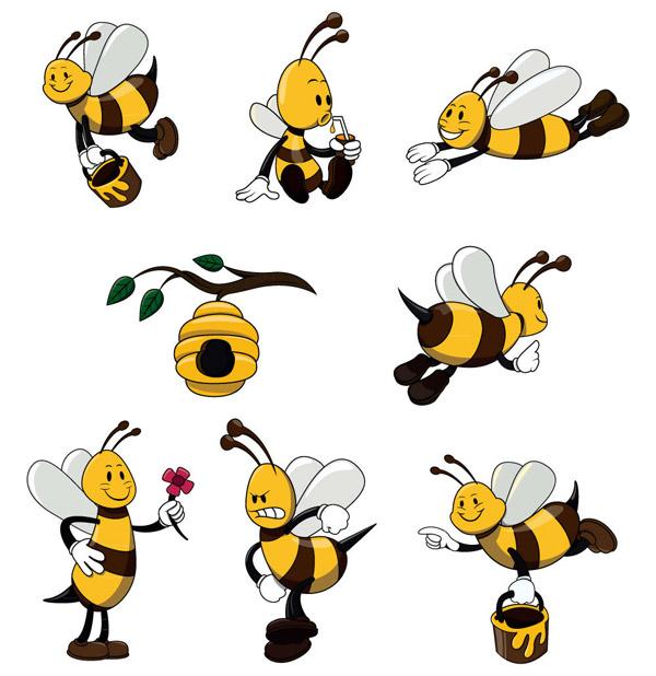 可爱黄色蜜蜂