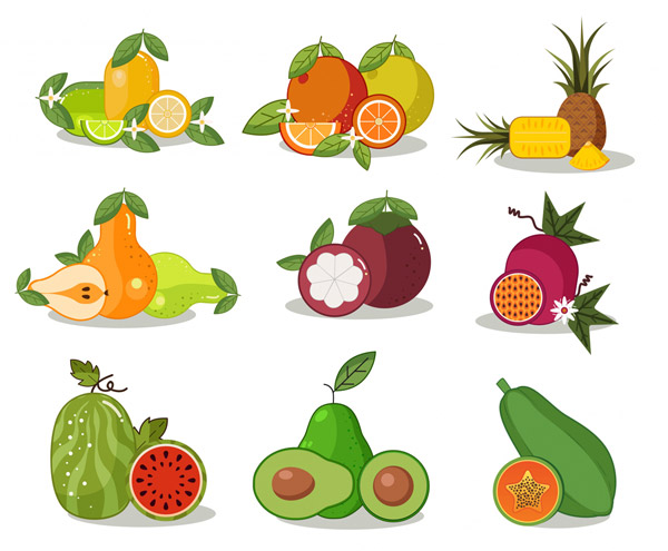 彩色水果设计