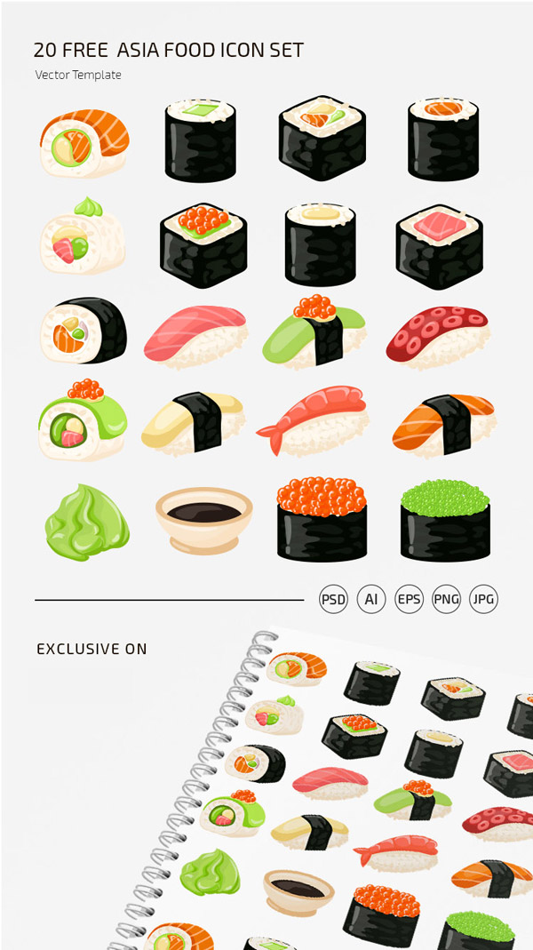 免费寿司图标集