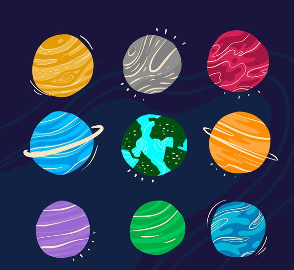 抽象太阳系行星