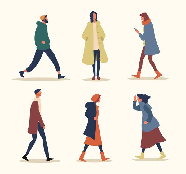 时尚行走人物