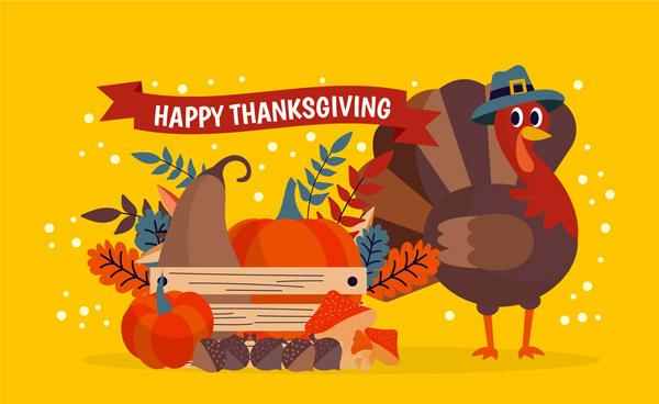 感恩节火鸡和食物