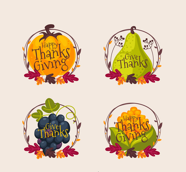 感恩节食物标签