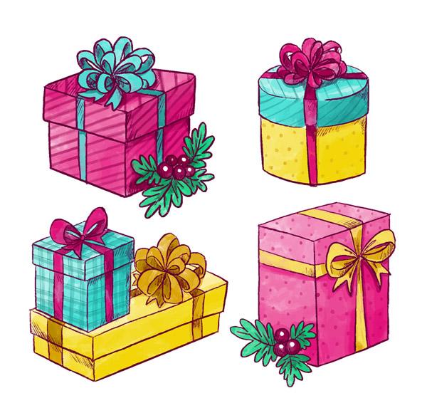 彩色节日礼盒