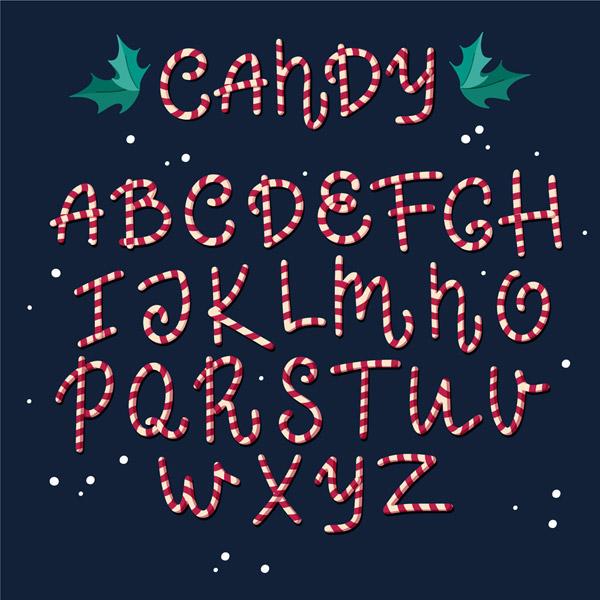 糖果大写字母