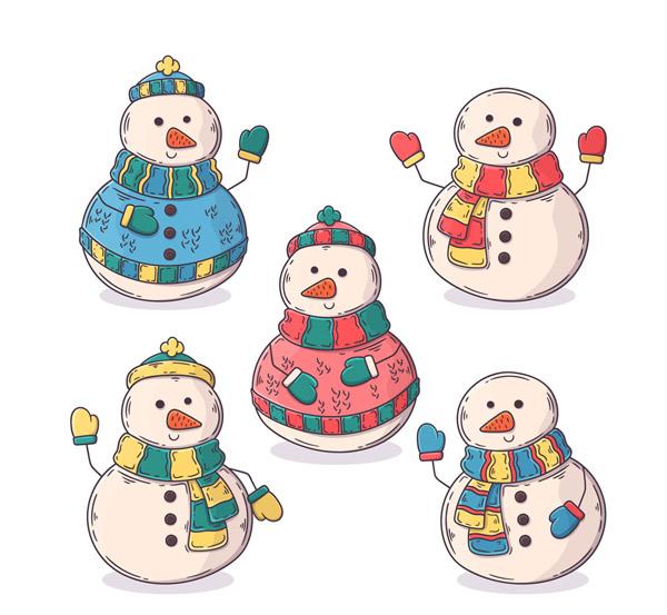 彩绘冬季雪人