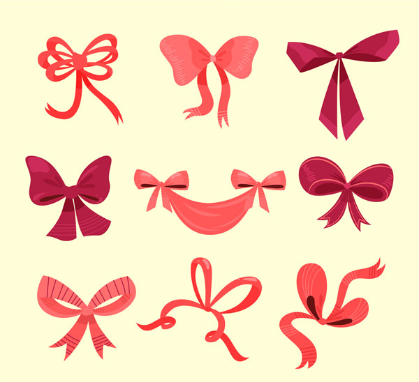 节日蝴蝶结丝带