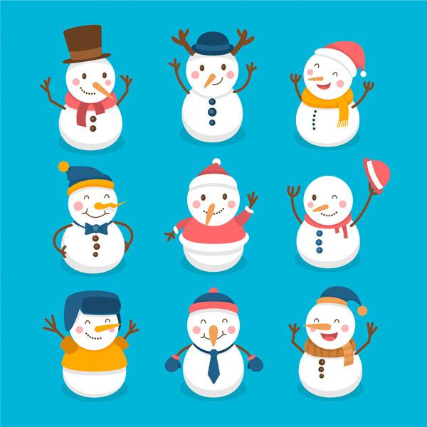 可爱笑脸雪人