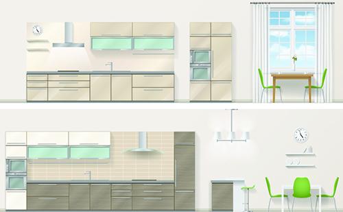 现代厨房空间