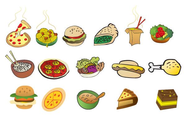 矢量卡通食品