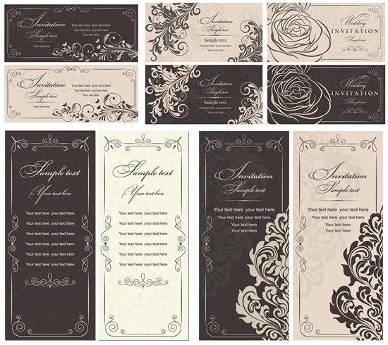 0 点 关键词: 古典花纹邀请卡矢量素材,古典花纹,线描花朵,欧式纹样