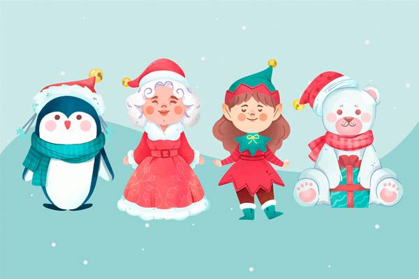 微笑圣诞节角色