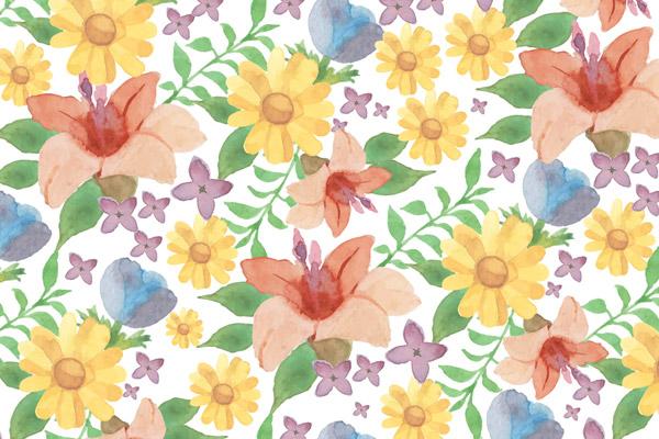 水彩花卉背景