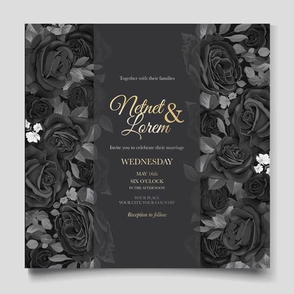 高贵质感婚礼邀请