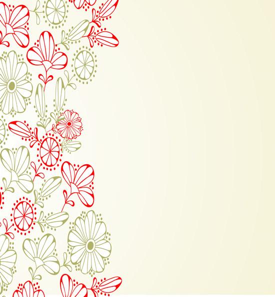线描花朵花纹_矢量花纹