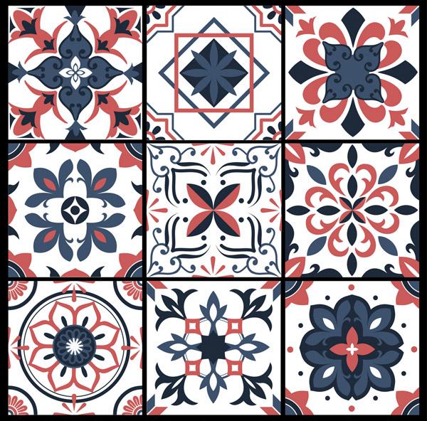 创意花纹方砖